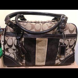 Coach Brown/Caramel Suede handbag